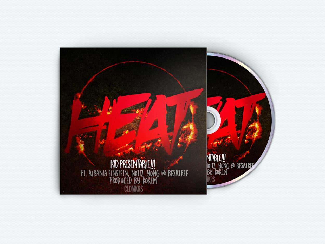 kid presentable!!! - heat - album art design