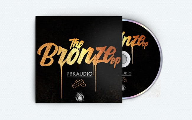 pbkaudio - the bronze ep - album art design