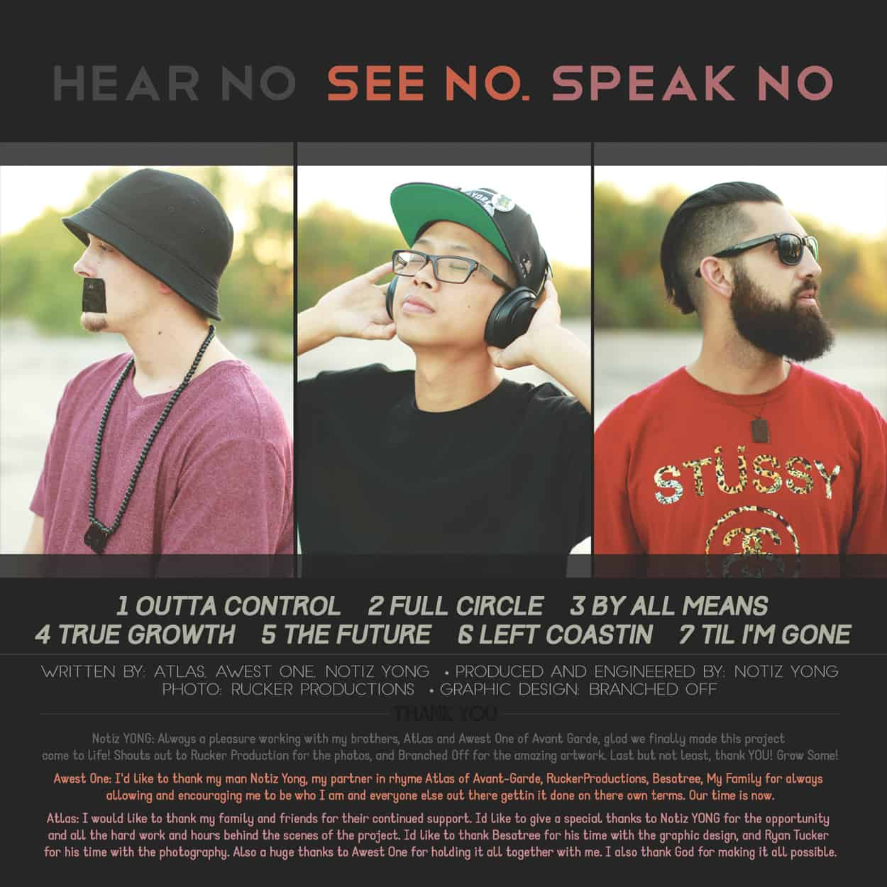 Hear No, See No, Speak No - Album Art Design