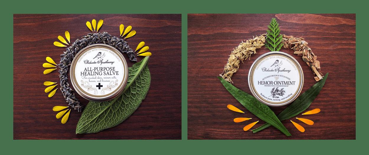 chickadee apothecary - label design