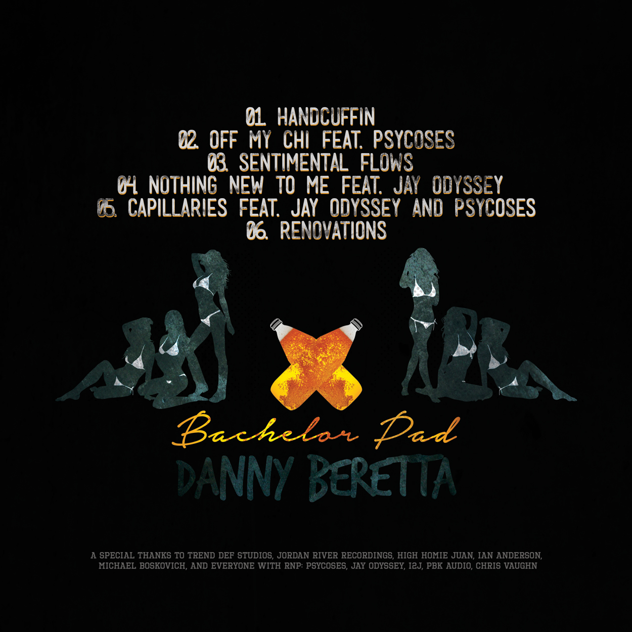 danny beretta - bachelor pad - album art design