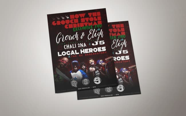 grouch stole xmas - flyer design