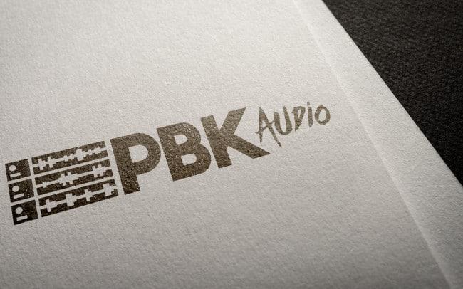 pbk audio - logo design