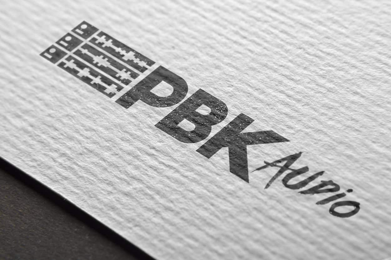 pbk audio - logo design
