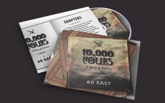 60 east - 10000 hours (a story of success) - album art design