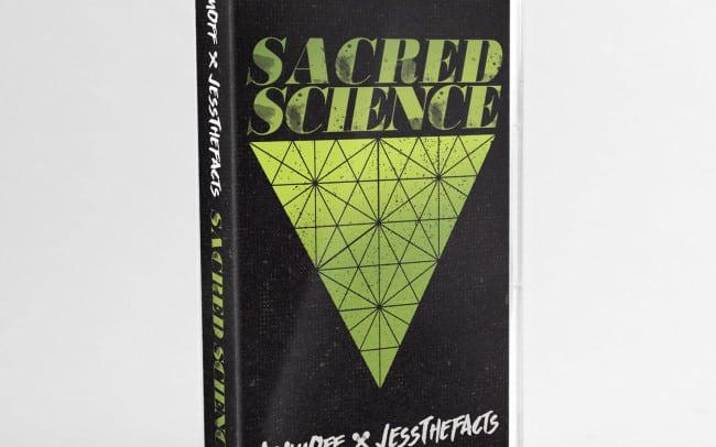 sacred science - cassette tape design