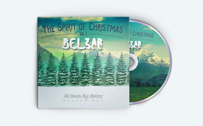 belzar - spirit of christmas - album art design