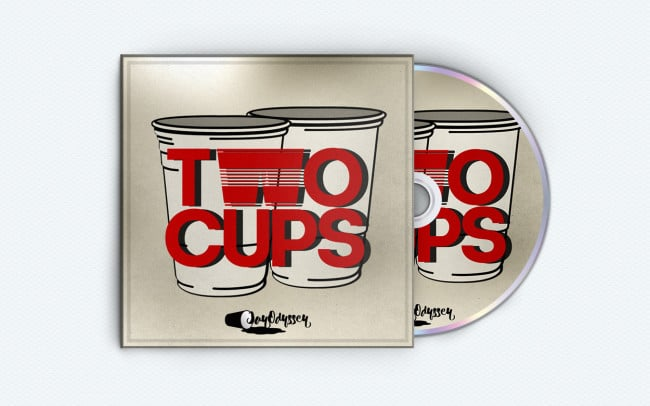 jay odyssey - two cups - album art design