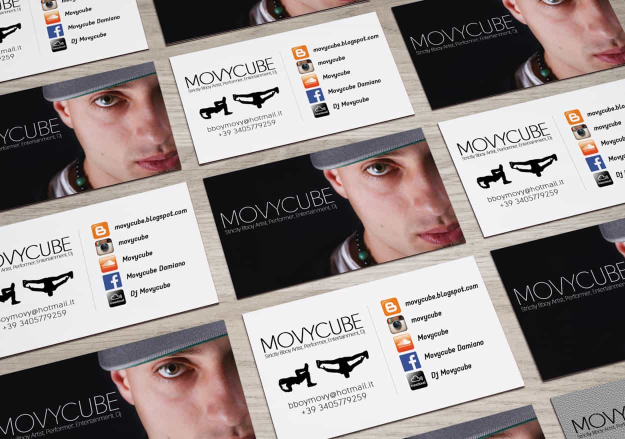 movycube - business card design