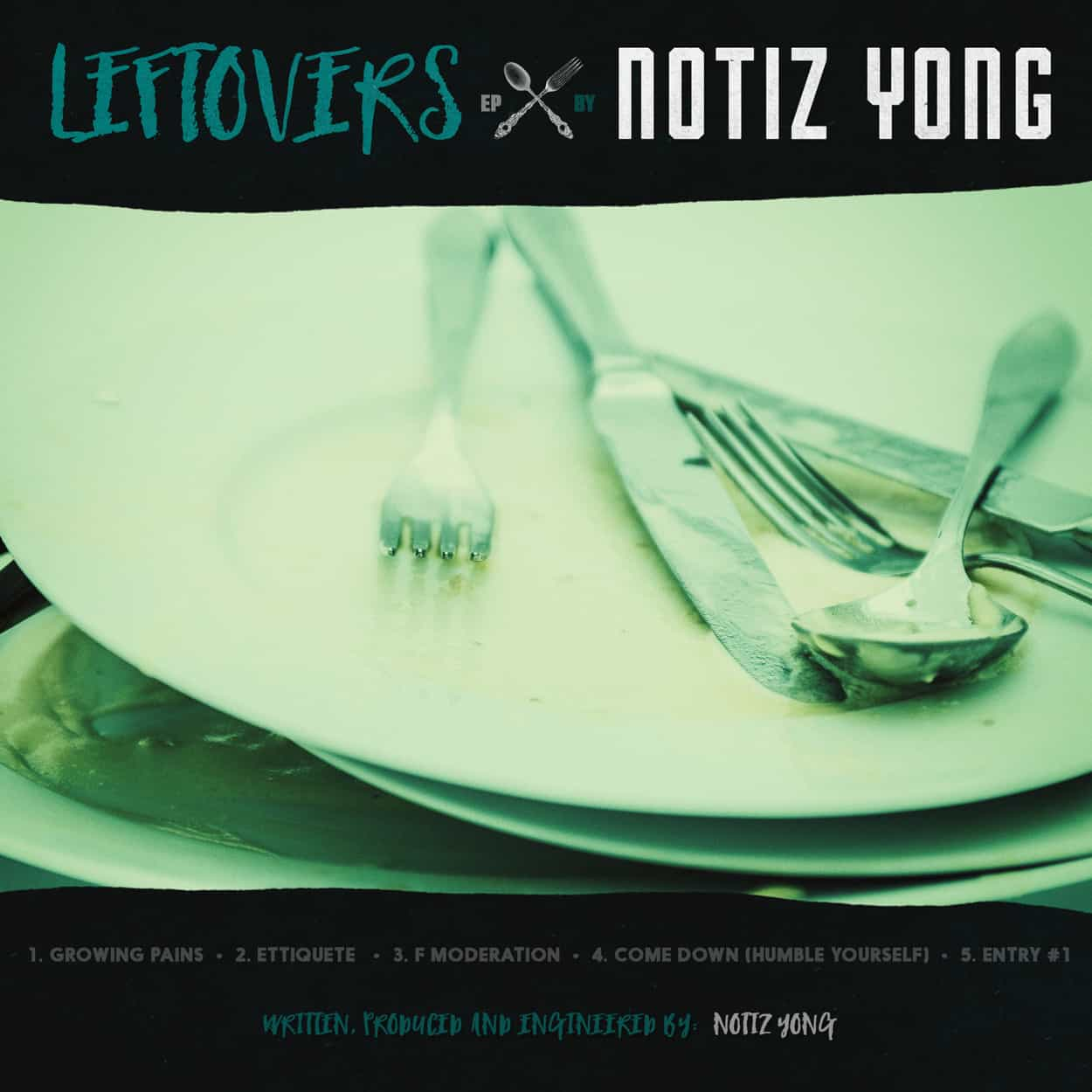 notiz yong - leftovers ep - album art design