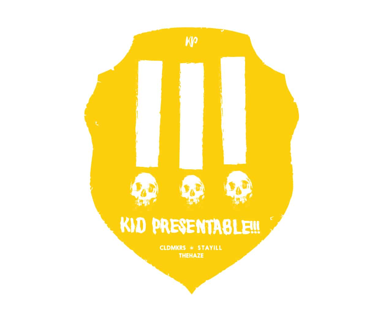kid presentable - stay illuminated - t-shirt design - logo - badge