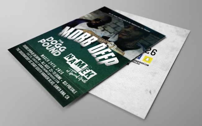 namek - mobb deep - tha dogg pound - flyer design