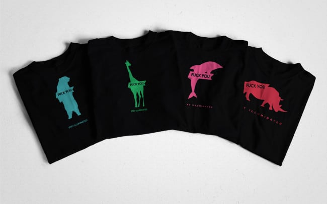 stay ill - fuck you animal series - tshirt design - full series