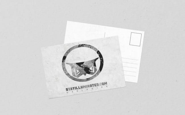 stay illuminated - worldwide - postcard design