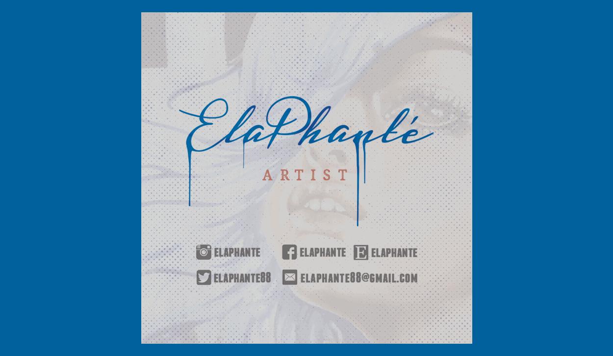 elaphanté - square business card design