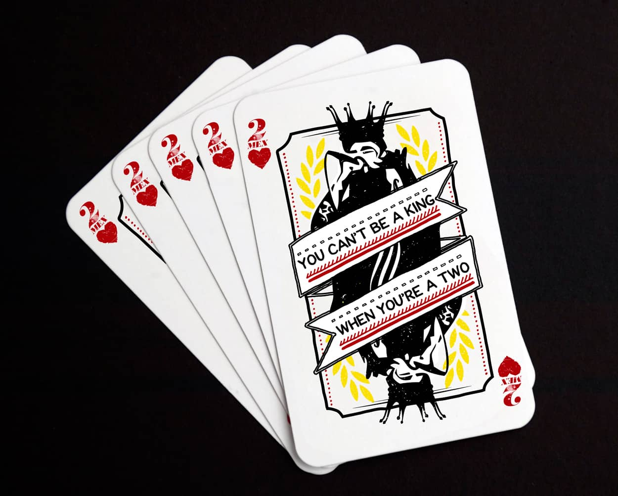 2mex - playing card - sticker design