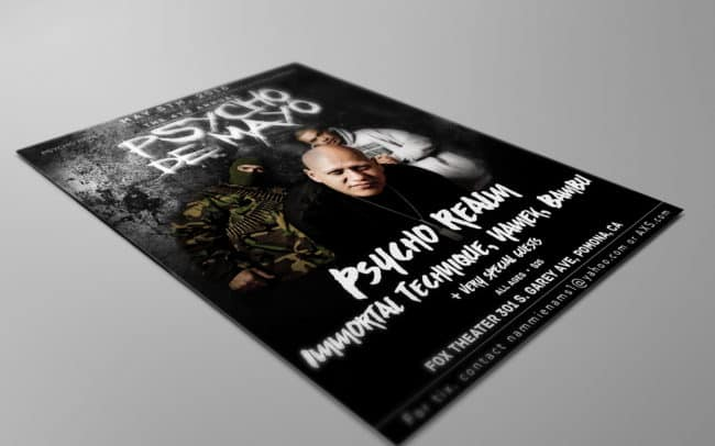 psycho de mayo - flyer design