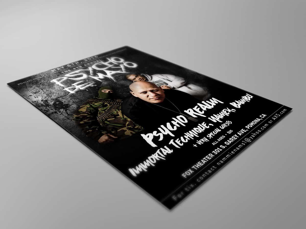 psycho de mayo - flyer design