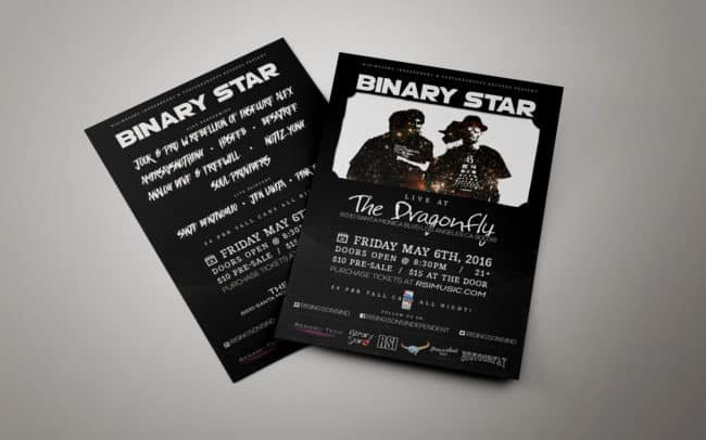 rsi - binary star - flyer design