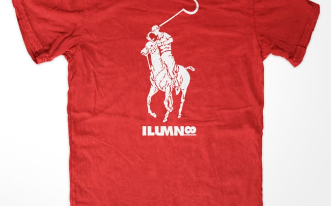 stay illuminated - ralph sickle polo tee