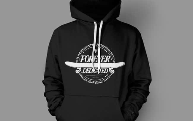 forever dedicated - hoodie design