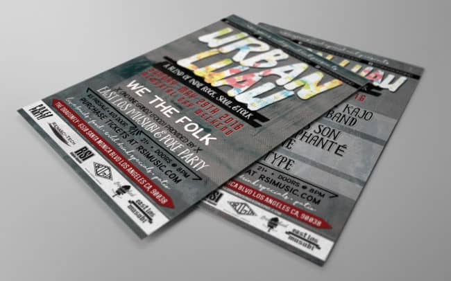 rsi - urban luau - flyer design