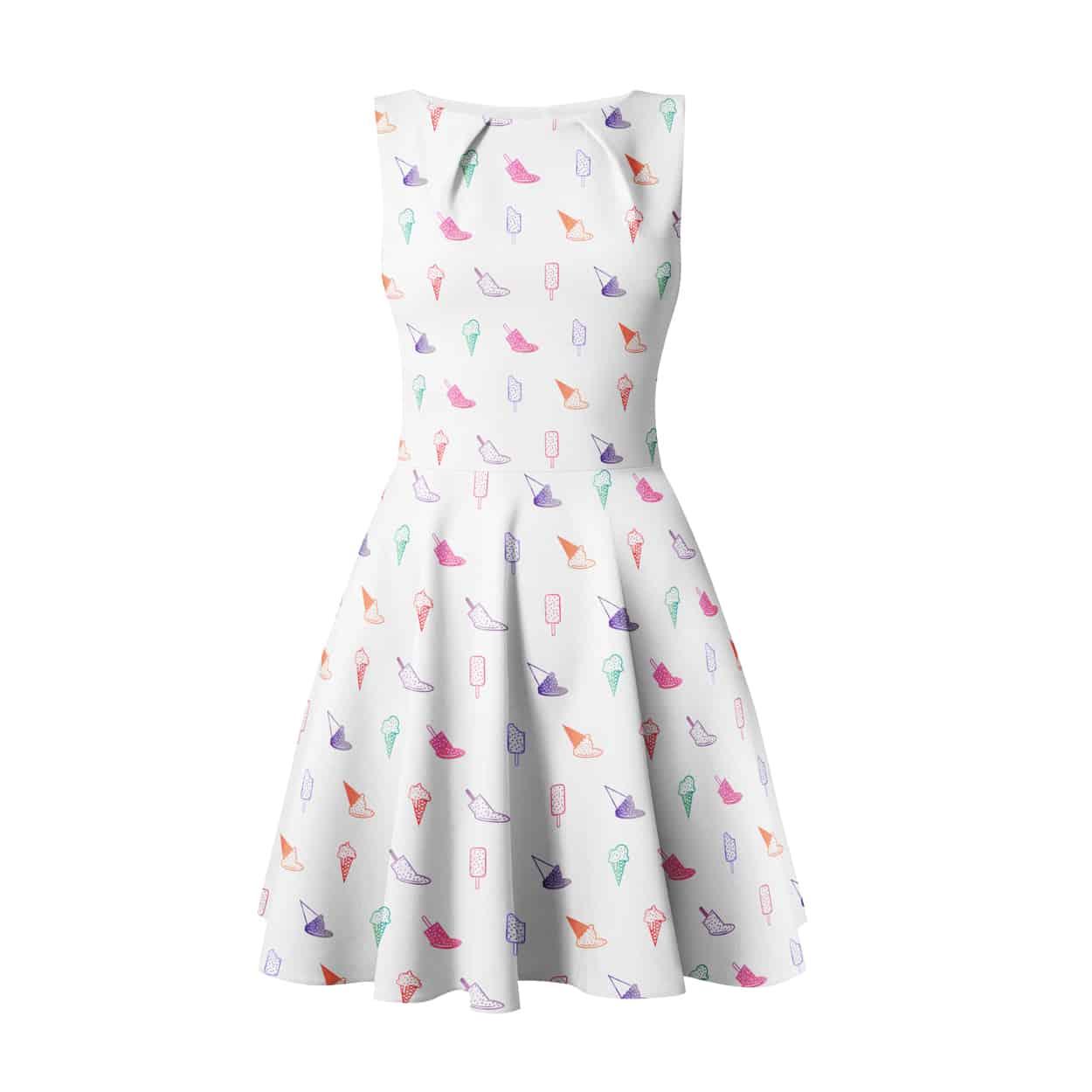 branched off - summer melt - pattern design (dress, leggings, crop tank top)