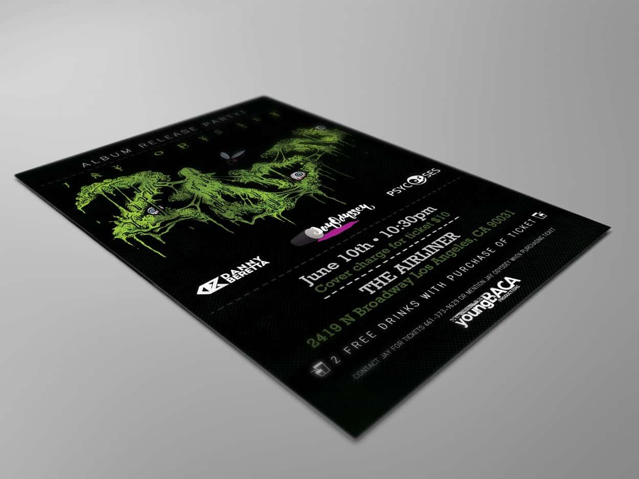 jay odyssey - album release - flyer design