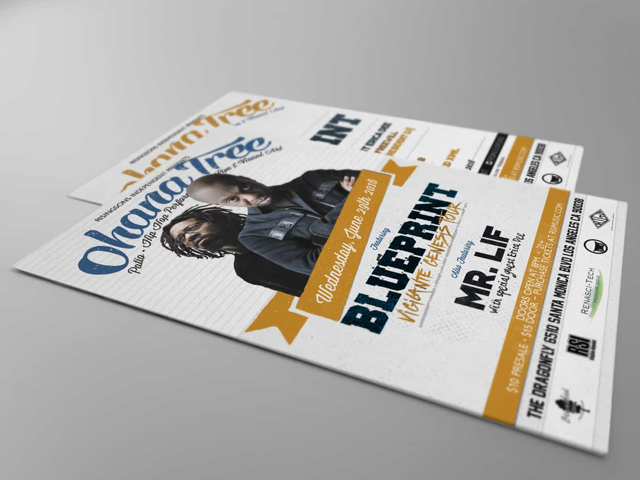 rsi - blueprint & mr lif - flyer design