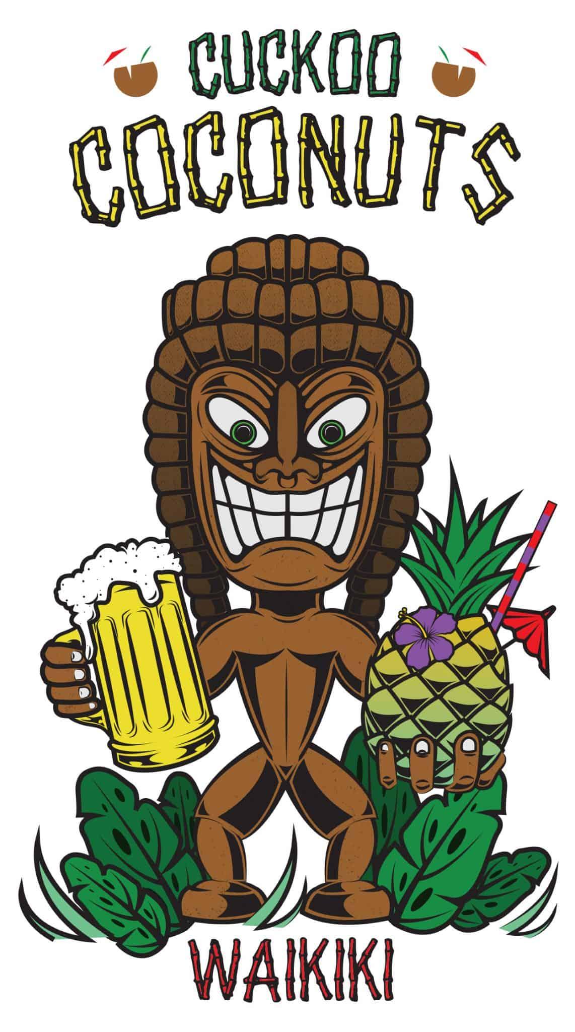 cuckoo coconuts - log design