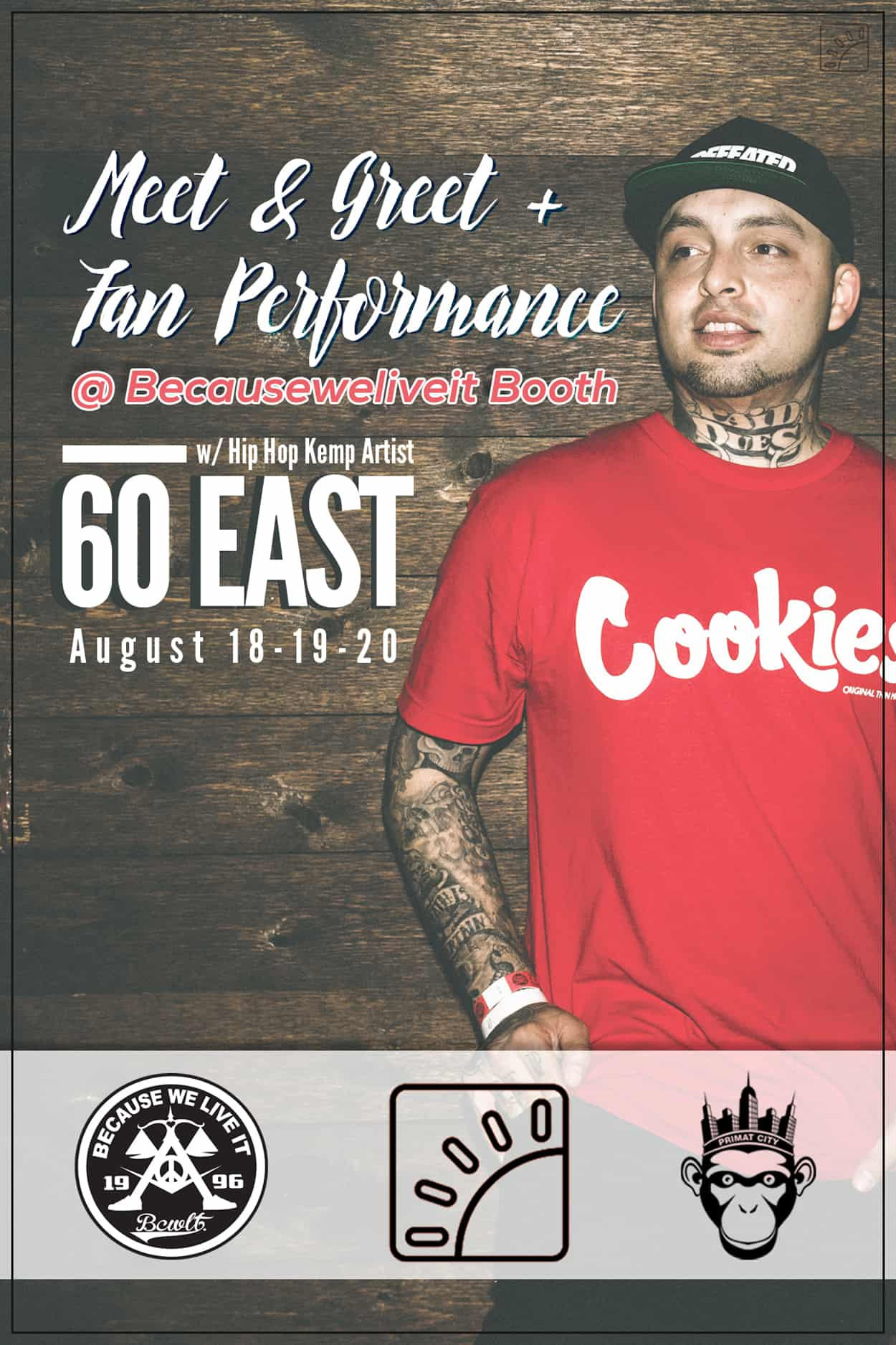 60east - hip hop kemp festival - flyer design