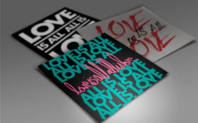 love is all, all is love - sticker design