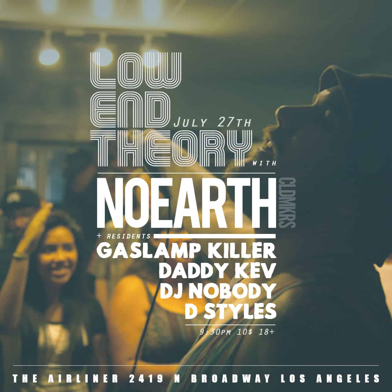 noearth - low end theory - flyer design
