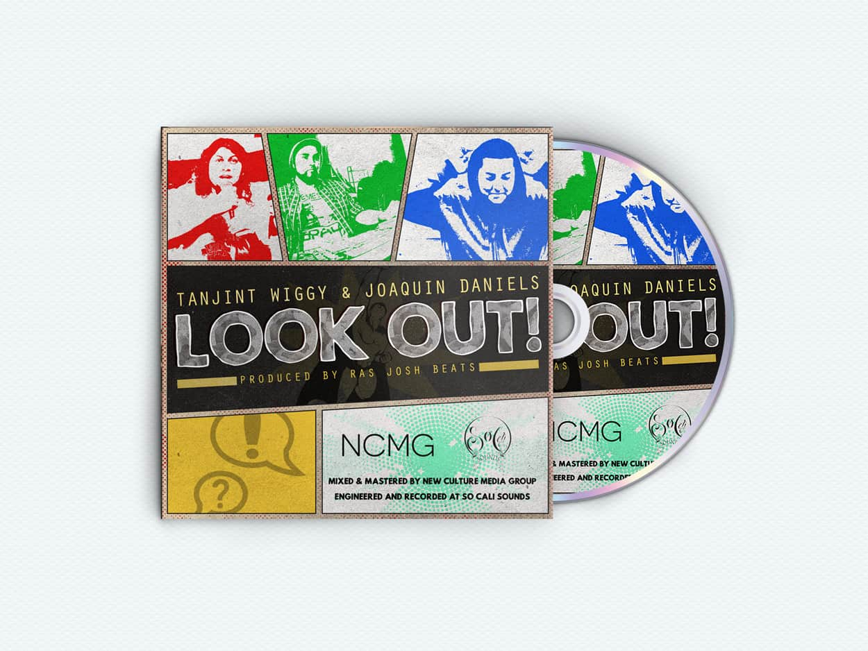 Tanjint Wiggy and Joaquin Daniels - Look Out - Album Art Design