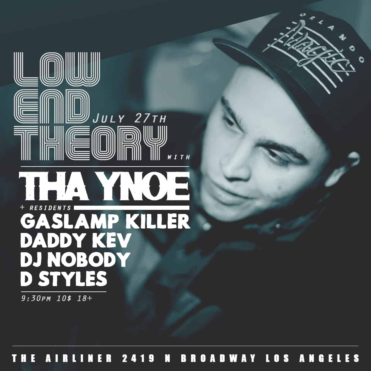 ynoe - low end theory - flyer design
