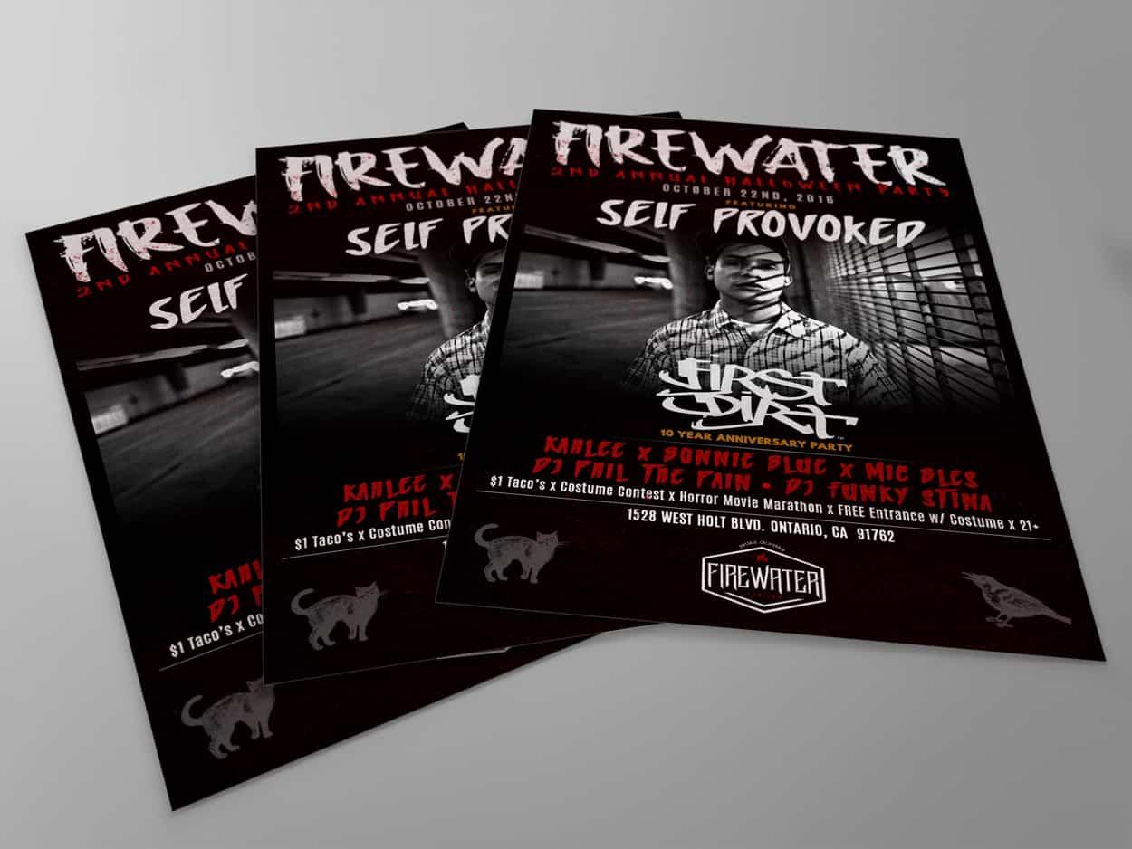 60 East - Halloween Show - Flyer Design
