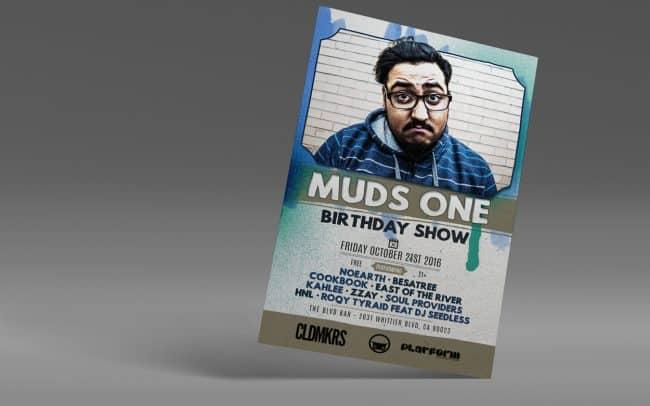 MudsOne - Birthday Show - Flyer Design