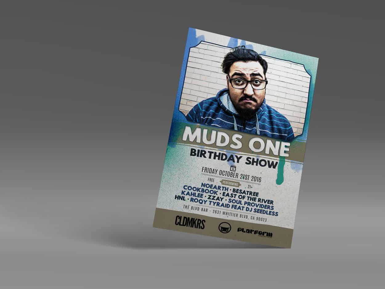 MudsOne - Birthday Show - Flyer Design