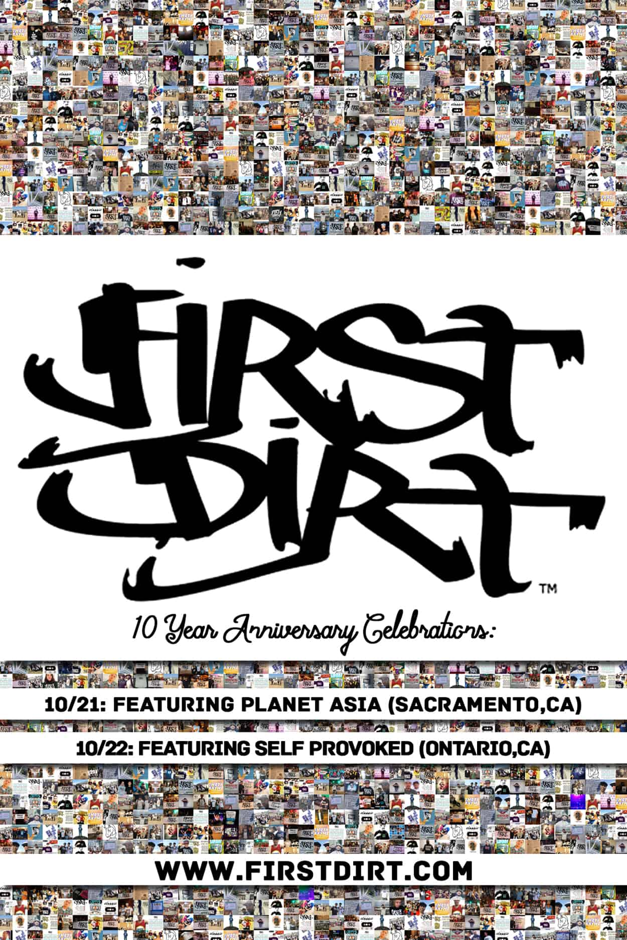 60 East - 10 Year Anniversary - Flyer Design