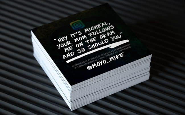moyo mike - instagram - square business card design