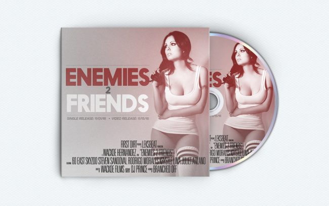 60 East - enemies 2 friends - album art design