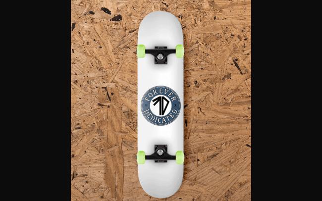 forever dedicated - classic - skateboard design