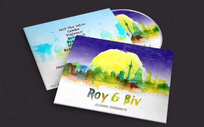 james kennedy - roy g biv - album art design