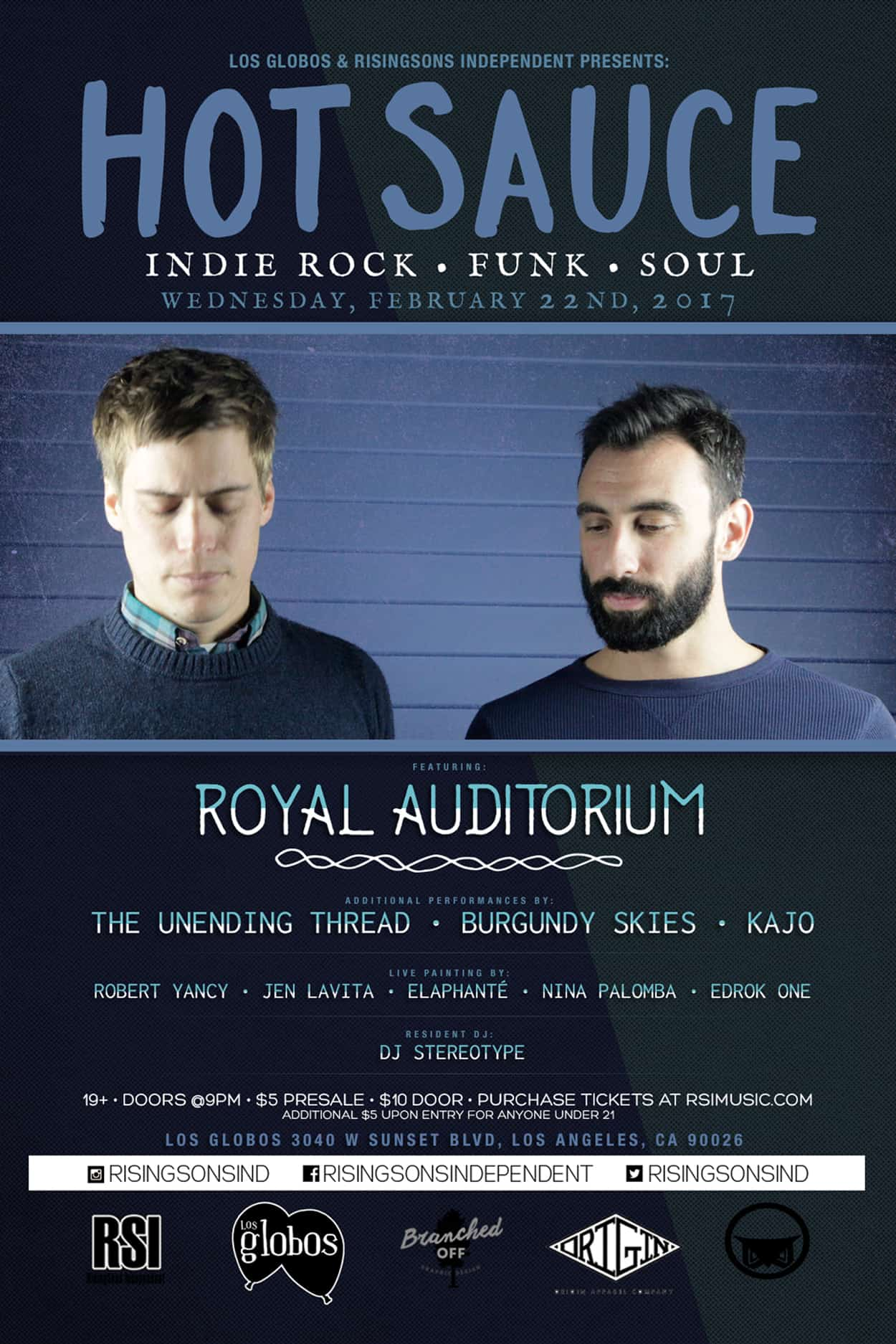 Hot Sauce - Royal Auditorium - Flyer Design