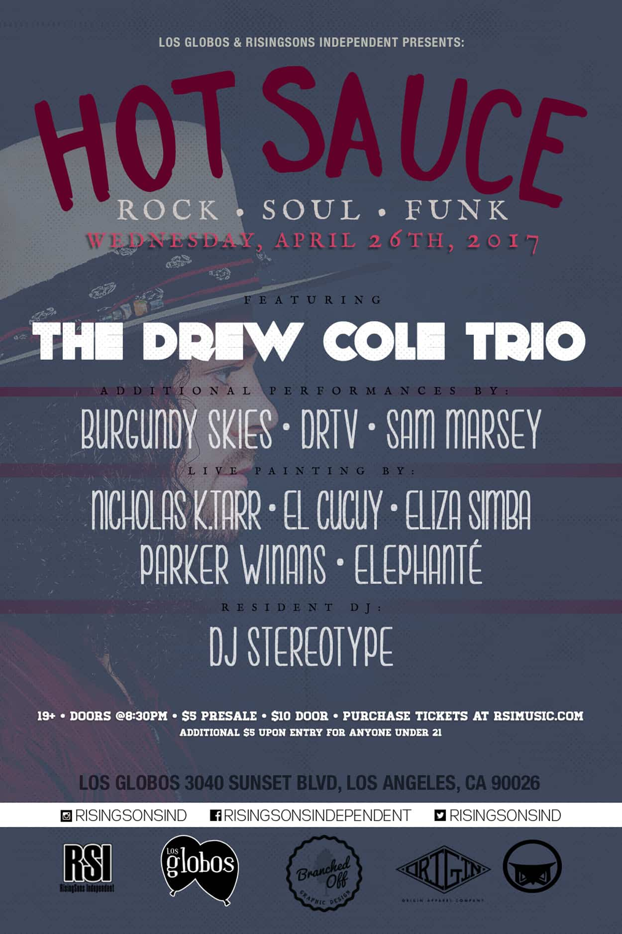 Hot Sauce - The Drew Cole Trio - Flyer Design