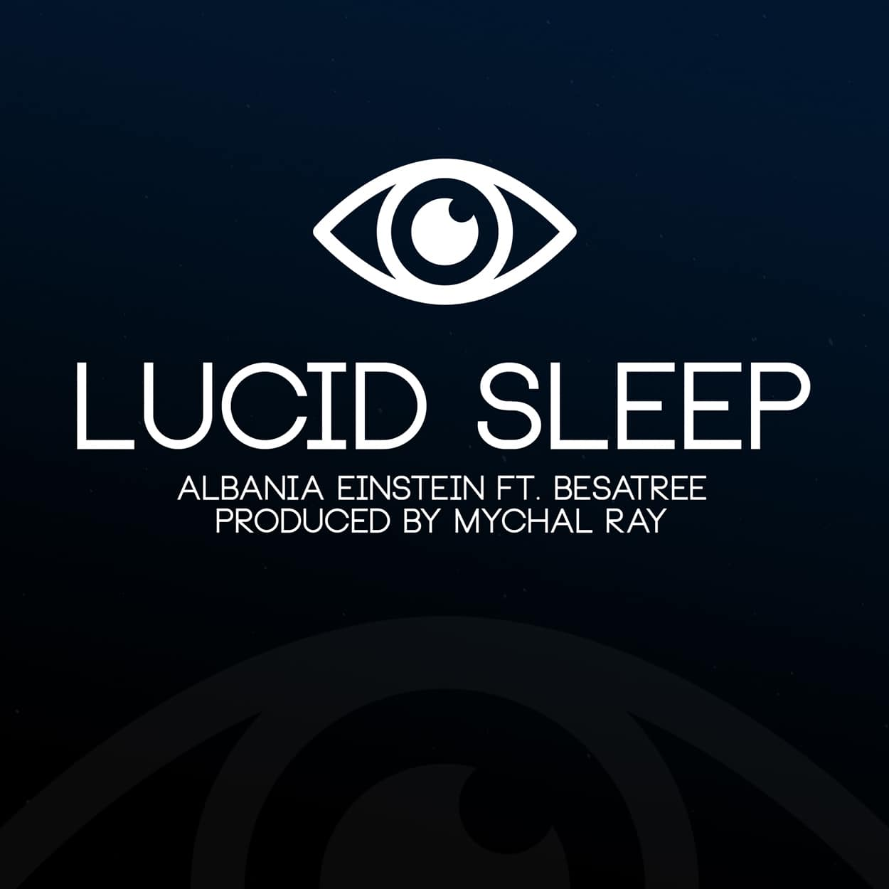 albania einstein - lucid sleep - album art design