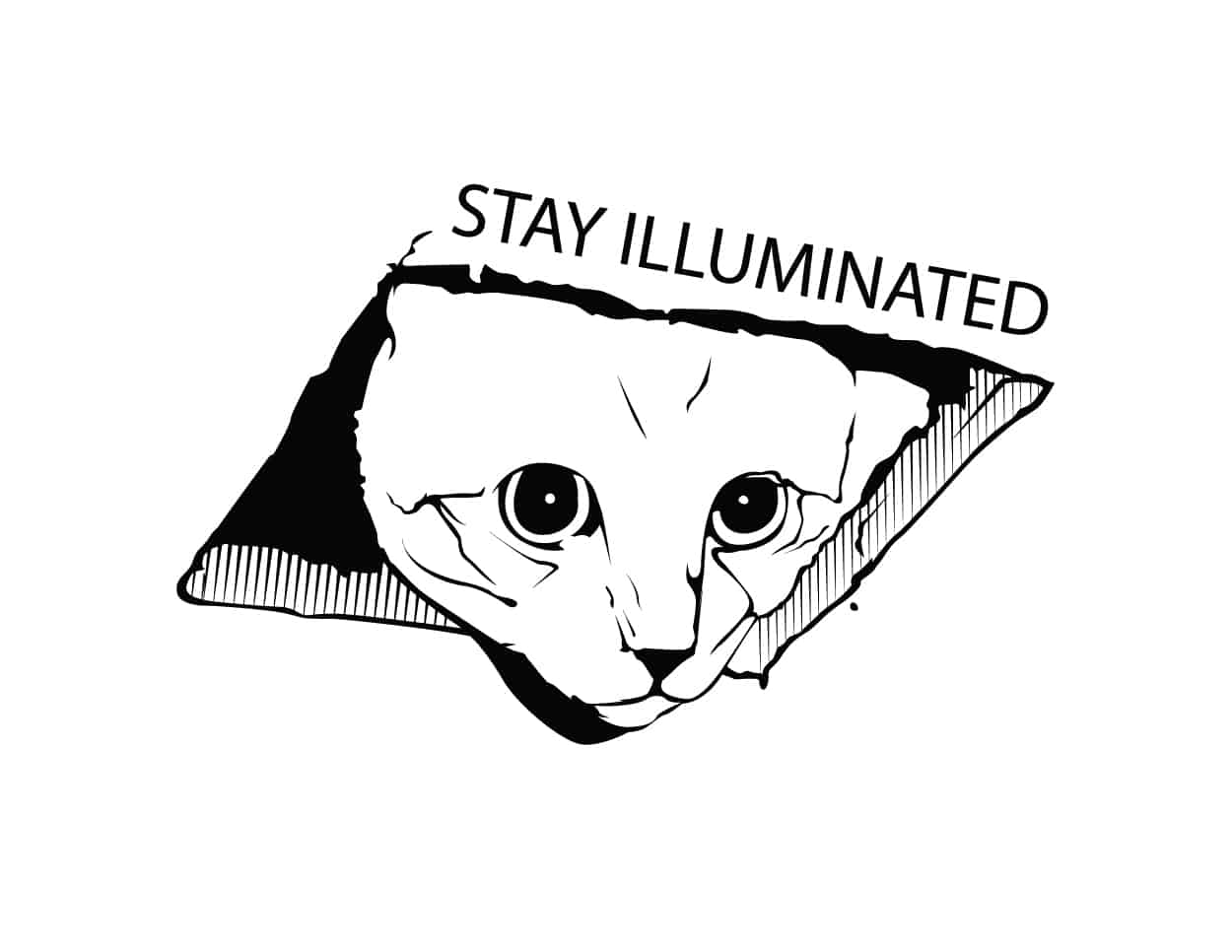 stay ill - peeking cat - shirt design