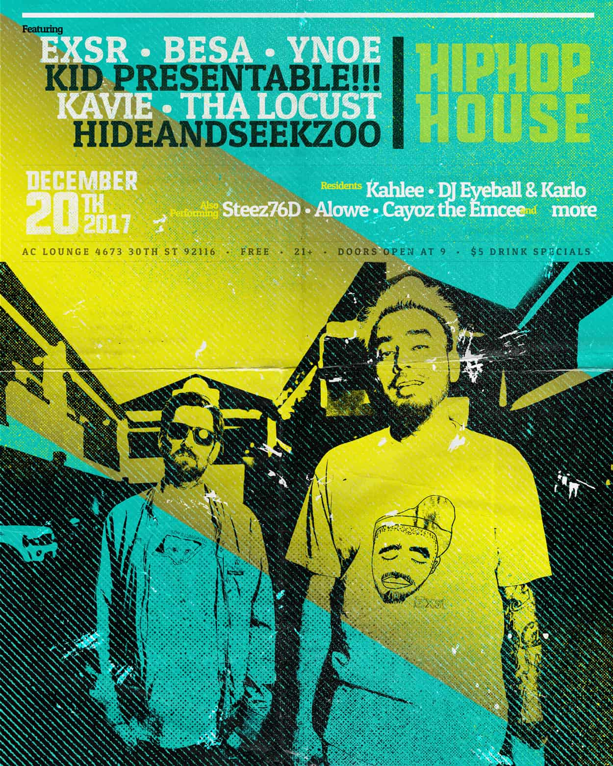 stay ill - hip hop house - flyer design