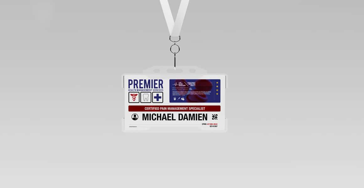 Premier-Health-Management-Services---Name-Badge-Design